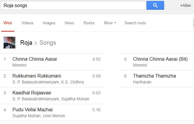 google search movie song list