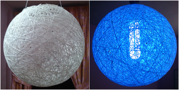 Good Make Your Own Colourful Homemade Thread Ball Lamp U2013 DIY